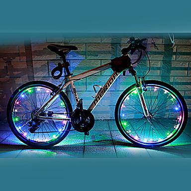 Велосипедные фары колесные огни Светодиодная лампа Велоспорт Водонепроницаемый Меняет цвета AA Люмен Батарея Велосипедный спорт-FJQXZ