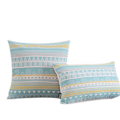 1 pcs Cotton/Linen Pillow Cover, Geometric Modern/Contemporary
