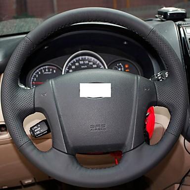 xuji noir housse volant en cuir v ritable de roue pour kia sportage 2 2005 2010 de 1468845. Black Bedroom Furniture Sets. Home Design Ideas