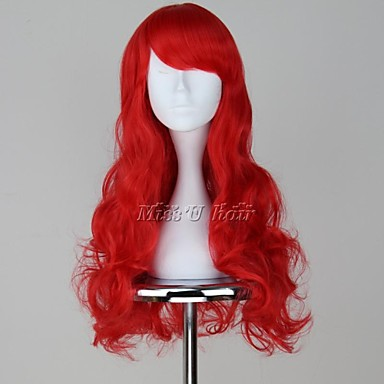 Cosplay Wigs The Little Mermaid Ariel Anime Cosplay Wigs 65 CM Heat Resistant Fiber Women's
