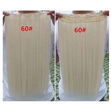 Hot Selling Colour Farverige Engros piges klip i Hair Extension Syntetisk hår 24 Inch