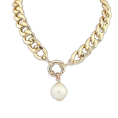 Dame Form Vintage Victoriansk Mode Europæisk Halskædevedhæng Perlehalskæde Perle Legering Halskædevedhæng Perlehalskæde Speciel Lejlighed