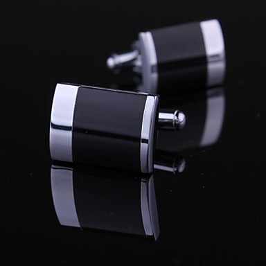 Fashion Mens Cufflinks with Silver Black Toned (1pair)