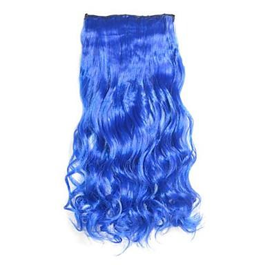 Синий Ролик в Хари Расширения длинными волнистыми шиньоны