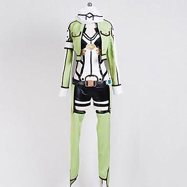 Inspiriert von Sword Art Online Shino Anime Cosplay Kostüme Cosplay Kostüme Langarm Mantel Gymnastikanzug/Einteiler Kopfbedeckung