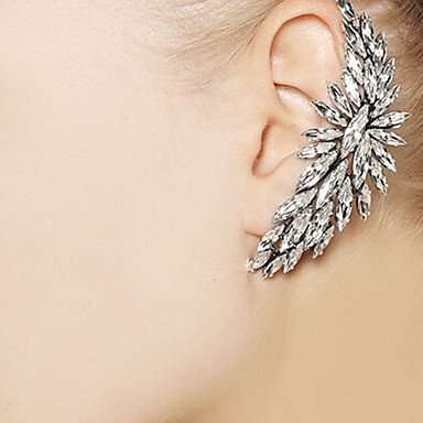 Earring Ear Cuffs Jewelry Party / Daily / Casual Alloy / Rhinestone Gold / Transparent