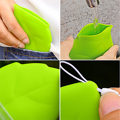 1kpl kannettava lehtiystyyppinen taskukuppi ympäristöystävällinen kannettava kuppi