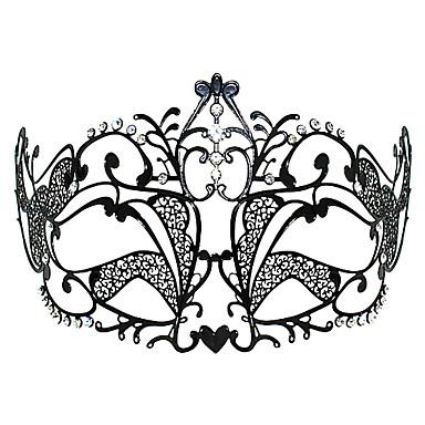 Masker Prinses Festival/Feestdagen Halloween Kostuums Zwart Effen / Kant Masker Halloween / Carnaval Unisex Metaal