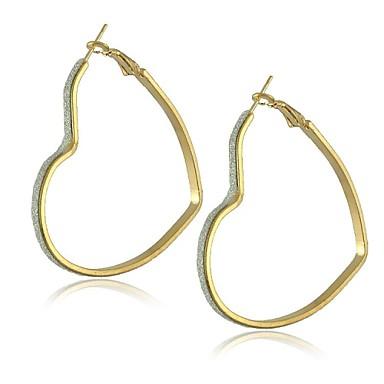 Damen Herz 1 Tropfen-Ohrringe - Ohrringe Für
