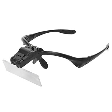 Forstørrelsesglas Forstørrelsesbriller Brille Objektiv med LED-lys Klassisk