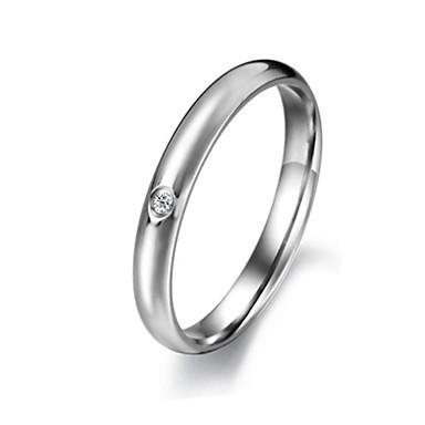 Ringe Bryllup Fest Daglig Afslappet Sport Smykker Titanium Stål Dame Båndringe5 6 7 8 9 Rosa