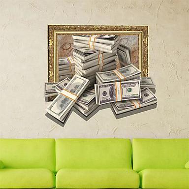 3D Peníze Wall Stickers Lepicí obrazy na stěnu