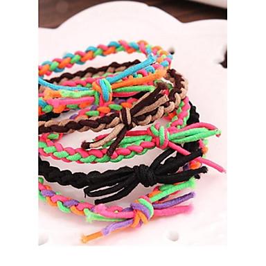 Заклинание цвет ручной работы упругого столкновения Matching Bands браслет веревочки волос (цвет случайный)