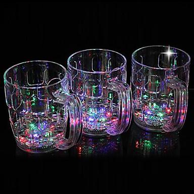 1 buc LED-uri de lumină de noapte Pahare LED Baterie Rezistent la apă