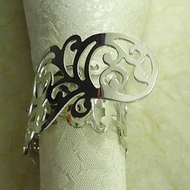 Oplata Metal cvijet ubrus Prsten, metal, 3.5cm, set od 12