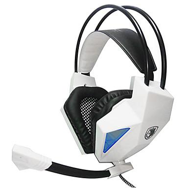 SADES SA709 Over øre Pandebånd Ledning Hovedtelefoner Plast Gaming øretelefon Med volumenkontrol Med Mikrofon Støj-isolering Headset