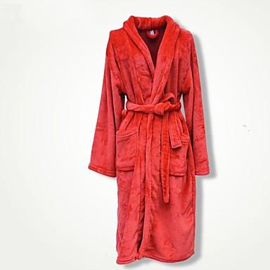 Frisk stil Badekåbe, Ensfarvet Overlegen kvalitet 100% Koral Fleece Strikket Almindelig Håndklæde