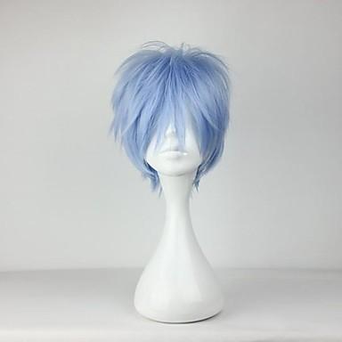Cosplay Parykker Cosplay Kuroko Tetsuya Anime Cosplay Parykker 30 CM Varmeresistent Fiber Herre