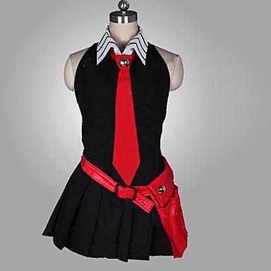 Inspirat de Akame Ga Kill! Cosplay Anime Costume Cosplay Costume Cosplay Peteci Fără manșon Rochie Mănuși Centură Cravată Pentru Feminin