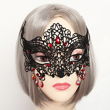 Mask Vampire Festival/Holiday Halloween Costumes Solid Lace Mask Halloween Carnival Unisex