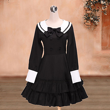 Sailor Lolita Dress Lolita Women's One Piece Dress Cosplay Long Sleeves