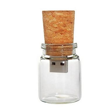 8 GB flacon de sticlă cu dop unitate USB Flash pen (transparent)