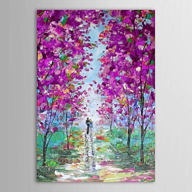 Pictat manual Peisaj Vertical pânză Hang-pictate pictură în ulei Pagina de decorare Un Panou