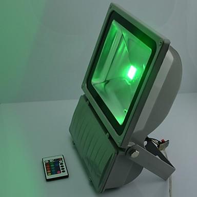 100W LED RGB Waterproof Aluminium Flood Light with IR Remote Controller AC85-265V