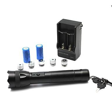 LT-zs0087 5 modele flahlight lumină în formă de meci zoom pointer laser albastru (2mW, 532nm, 1x18650, negru)