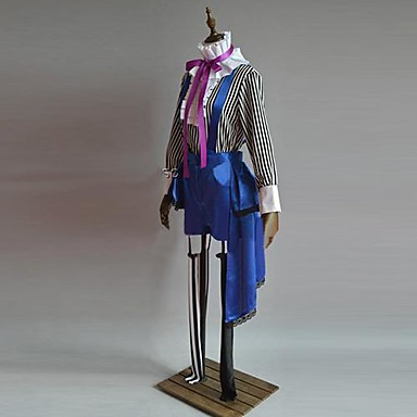 Inspired by Black Butler Ciel Phantomhive Anime Cosplay Costumes Cosplay Suits Patchwork Long Sleeves Vest Top Pants Socks Hat Tie For