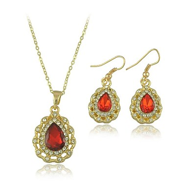 Crystal Drop Earrings And Necklace Jewelry Sets(Including Necklace,Earrings)(More Colors)