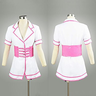 Inspired by Super Sonico Sonico Anime Cosplay Costumes Cosplay Suits Patchwork Short Sleeve Dress Belt Hat For Female