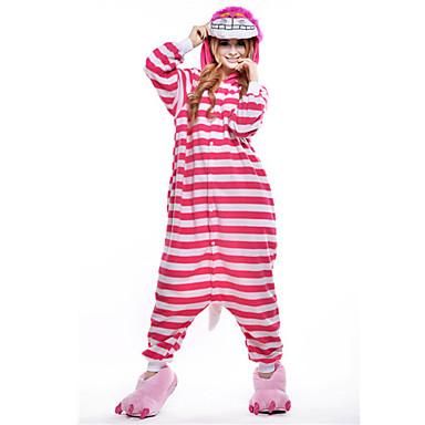 Pijama Kigurumi Pisici Pijama Întreagă Costume Lână polară Roz Cosplay Pentru Adulți Sleepwear Pentru Animale Desen animat Halloween