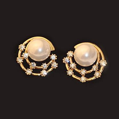 Miki diamante perle ørestik