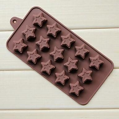 15 holes donuts pentagram vorm cake ijs gelei chocolade mallen