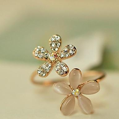 Damen Bandring - Opal, Diamantimitate, Aleación Blume, Gänseblümchen Ohne Verschluss Verstellbar Golden Für Alltag / Strass