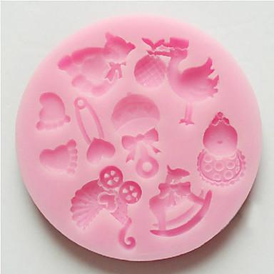 bakformen tecknad Shaped Paj Kaka Tårta Silikon Miljövänlig Hög kvalitet Teflonbehandlad