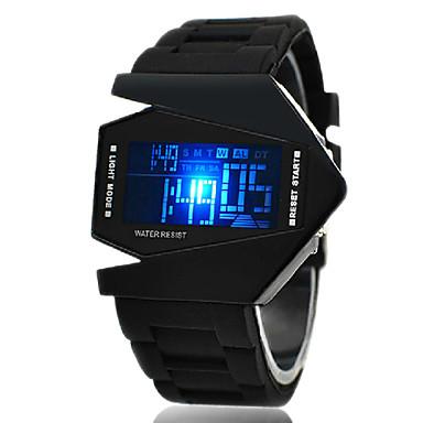 Bărbați Ceas Sport Ceas de Mână Ceas digital Piloane de Menținut Carnea Alarmă Calendar Cronograf LED LCD Silicon Bandă Negru Alb