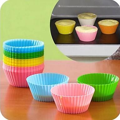 Backwerkzeuge Silica Gel Silikon Umweltfreundlich Heimwerken nicht-haftend Obstkuchen Cupcake Kuchen Backform