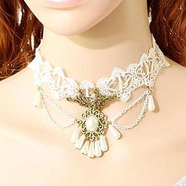 Perle Spitze Halsketten Kragen Tattoo-Hals  -  Tattoo Stil Modische Halsketten Für Hochzeit Party