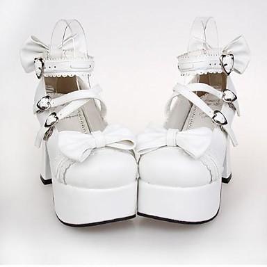 Туфли Панк Принцесса Высокий каблук Туфли Бант 9.5 См Назначение Искусственная кожа/Полиуретановая кожа