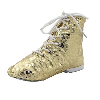 abordables Meilleures Ventes-Femme Chaussures de danse Polyuréthane Chaussures de Jazz Bottes / Deli-pointes Argenté / Doré / EU43