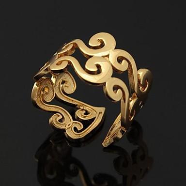 Damen Platiert / vergoldet Eheringe / Statement-Ring / Bandring - Ohne Verschluss / Einstellbar Silber / Golden Ring Für Hochzeit / Party