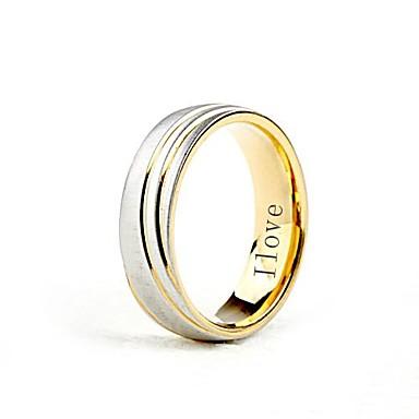 Кольцо с именной гравировкой из нержавеющей стали, ширина 0.6 см