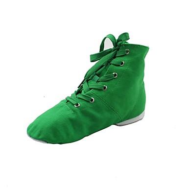 女性用 ジャズ用シューズ キャンバス ブーツ / スプリットソール ダンスシューズ ホワイト / レッド / グリーン