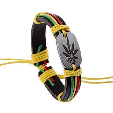 voordelige Herensieraden-Heren ID-armband Wikkelarmbanden Lederen armbanden Uniek ontwerp Modieus Leder Armband sieraden Koffie Voor Kerstcadeaus