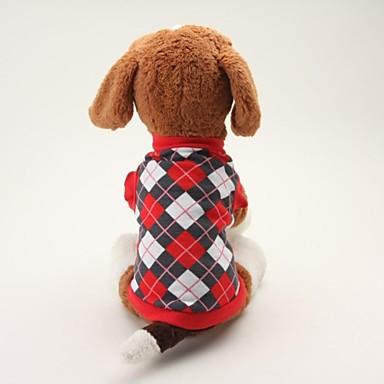 Hund T-shirt Hundekleidung Plaid/Karomuster Schwarz Blau Baumwolle Kostüm Für Haustiere Herrn Damen Klassisch Lässig/Alltäglich