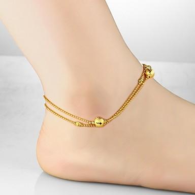 Altele Placat Auriu / 18K Placat cu Aur Brățară Gleznă / Corp lanț / burtă lanț - Pentru femei Auriu Design Unic / Modă Brățară Gleznă
