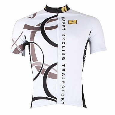 ILPALADINO Men s Short Sleeve Cycling Jersey - White Circle Bike Jersey Top bdb7bebac