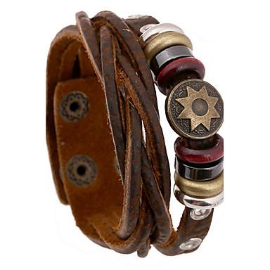 Муж. Кожаные браслеты бижутерия Кожа Бижутерия Назначение Повседневные Новогодние подарки